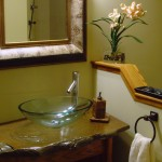 Stone spa bathroom