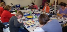 SCRAPBOOKING WITH FRIENDS