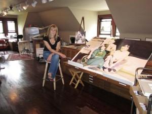 jeannie in studio