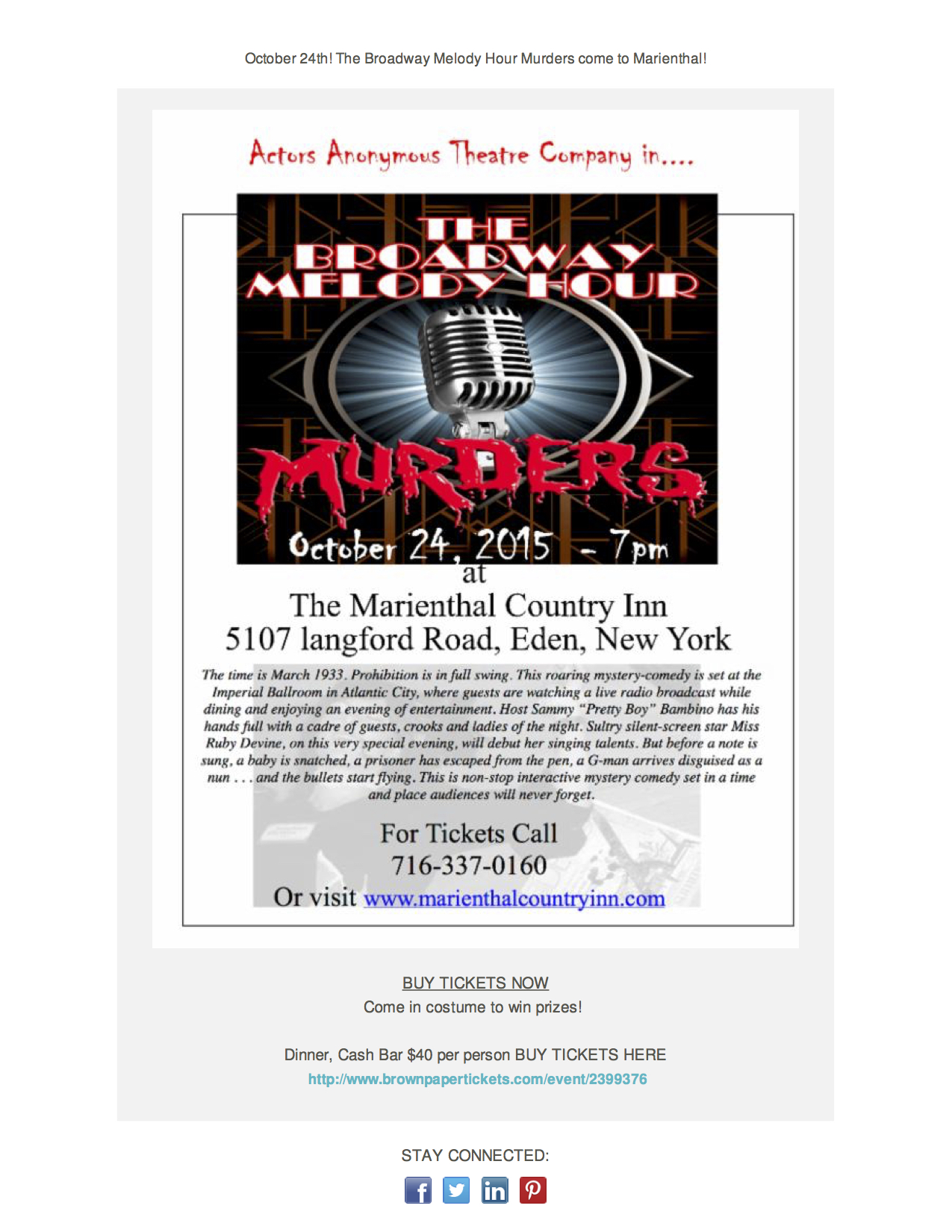 Broadway Murder CC email